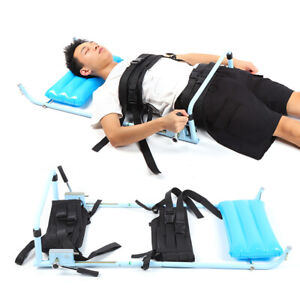 Cervical Spine Lumbar Traction Bed Table Body Stretching Machine Therapy Massage
