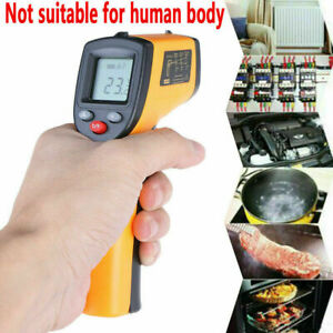 Us Digital No touch Lcd Ir Laser Industrial Infrared Temperature Thermometer Gun