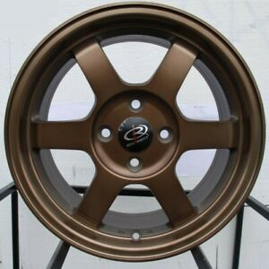 Rota Grid 16x7 5x114 3 40 Full Royal Sport Bronze Wheels 4 16 Inch Rims