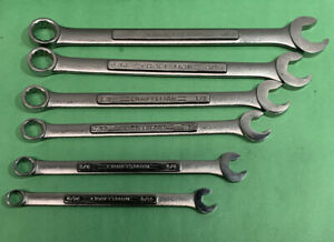 Lot Of 6 Sae Craftsman Professional Combination Speed Wrench Set 5 16 5 8 V