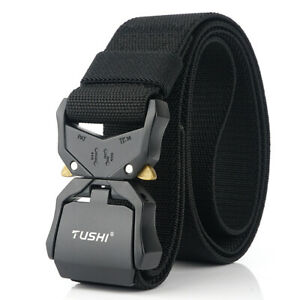 Tactical Police Security Guard Duty Belt Nylon Utility Kit Pouch System Black