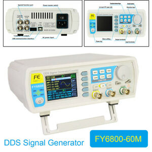 Fy6800 60mhz Dual channel Dds Function Pulse Signal Generator 2 4inch Display Us