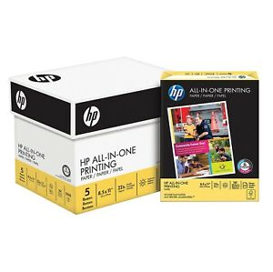 Hp All in one Copy Paper 22lb 96 Bright 8 1 2 X 11 2 500 Sheets