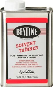 Bestine Solvent And Thinner For Rubber Cement Cleans Ink Adhesive Parts 16 Oz