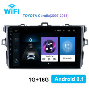 Gps Navigation Car Stereo Radio 9 Inch Android 9 1 For Toyota Corolla 2006 2012