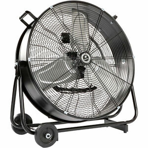 Tpi Commercial Drum Fan With Swivel Base 24in 1 3 Hp 5400 Cfm Model Cpbs24dhv