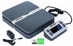 Accuteck Shippro W 8580 110lbs X 0 1 Oz Gray Digital Shipping Postal Scale