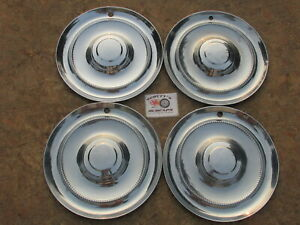1951 1952 Chrysler Windsor Saratoga 15 Wheel Covers Hubcaps Set Of 4