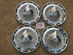 1962 Chevy Impala Super Sport ss 14 spinner Wheel Covers Hubcaps Set Of 4