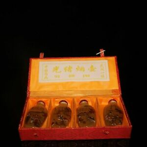 3 1 Chinese Old Antique Liuli Guangxu Mark A Set Of Character Snuff Bottles