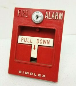 vintage Simplex Fire Alarm Pull Station Model 4251 20 Red Single Action No Key