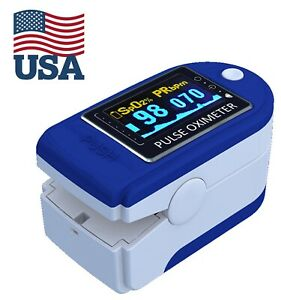 Pulse Oximeter Fingertip Blood Oxygen Spo2 Monitor Pr Pi Heart Rate fast Ship