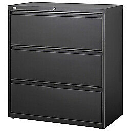 Lorell 36inw Lateral 3 drawer Letter legal File Cabinet