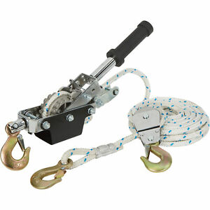 Ironton 1 ton Rope Puller With 3 Hooks 19 7ft l