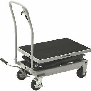 Strongway 2 speed Hydraulic Rapid Lift Xt Table Cart 500 lb Capacity