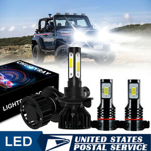 For Jeep Patriot Wrangler 2011 2017 Mini H13 Led Headlight Bulb 2504 Fog Lights
