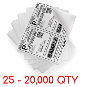 8 5 X 5 5 Half Sheet Self Adhesive Shipping Labels Paper 2 Per Sheet Free Ship