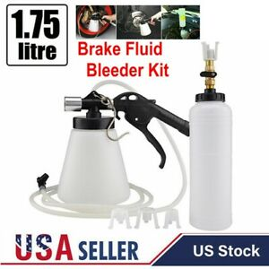 Car Brake Bleeder Bleeding Fluid Change Kit Pneumatic Air Garage Vacuum Tool Us