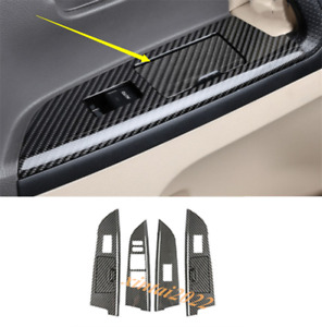Real Carbon Fiber Car Window Switch Cover For Toyota Land Cruiser Lc200 2008 19