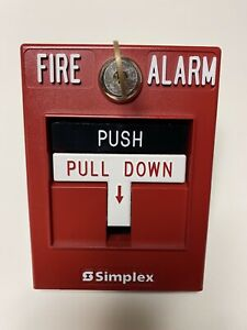 Simplex 2099 9756 Dual action Manual Fire Alarm Pull Station With Key No Rod