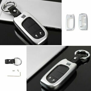 For Jeep Cherokee 14 2020 Zinc Alloy Silver Car Key Case Shell Protective Cover