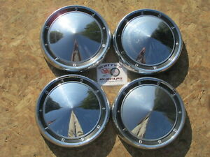 1960 Ford Galaxie Custom Starliner Sunliner Etc Poverty Dog Dish Hubcaps 4