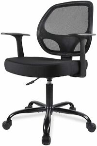 Small Office Chair Mesh Computer Desk Task Chair With Armrests Lumbar Support