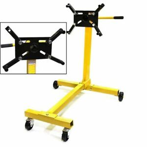 1000 Lb Engine Stand Automotive Motor Dolly Hoist Mover Repair Rebuild Wheels