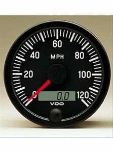 Vdo Vision Series Speedometer 0 120 Mph 3 3 8 Dia Electrical 437153