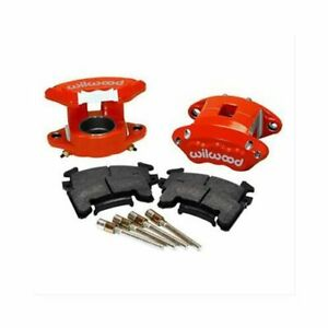 Wilwood Brake Calipers And Pads Gm D154 Driver Side Front Aluminum Red Gm Kit