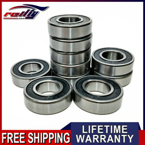 Lot Of 10pcs 6004 2rs Premium C3 Double Rubber Sealed Ball Bearings 20x42x12mm