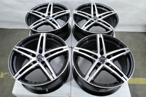 17 Black Wheels Rims Mercedes C300 C350 E320 E350 Mini Cooper Audi A3 A4 5x112
