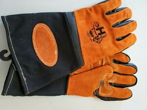 Hobart Welding Gloves Sz Xl Mig multi Purpose Leather Made Free Shipping
