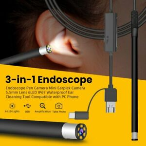 3 In 1 Usb Ear Cleaning Endoscope Visual Earpick With Hd Camera Otoscope Cleaner