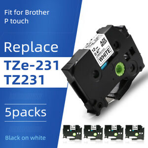 5pk Tze 231 Compatible For Brother P touch Tz 231 Label Maker Tape 12mm Pt d210