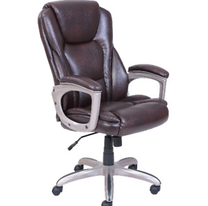Serta Big And Tall Ergonomic Commercial Office Chair With Memory Foam Brown