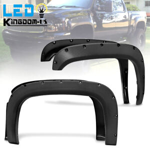 Fender Flares For 07 13 Chevy Silverado 1500 69 Short Bed Pocket Rivet Style