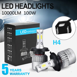 9003 H4 Cree Led Headlight Conversion Kit High Low Beam 6000k White Light Bulbs