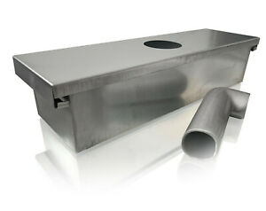 Grease Box For Restaurant Canopy Hood Exhaust Fan includes Down Spout