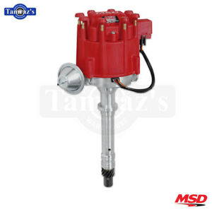 Msd Pro Billet Distributor Fits Gm Hei Red Cap