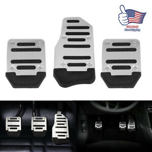 3pcs Universal Car Pedal Cover Manual Trans Brake Clutch Accelerator Non Slip Us