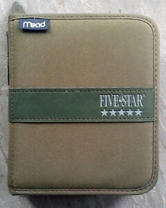 Mead Five Star Fat Little Student Day Planner Assignment Organizer Olive 7x6 Vtg