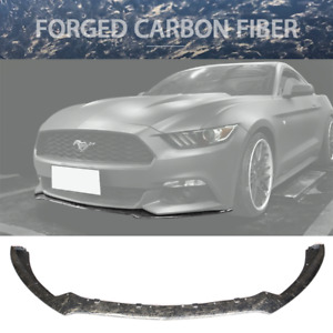 Fits 15 17 Ford Mustang S550 Oe Style Front Bumper Lip Forged Carbon Fiber