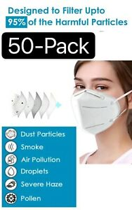 Kn95 Protective 5 Layers Face Mask 50 Pack Bfe 95 Pm2 5 Disposable Respirator