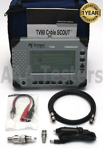 Tempo Cablescout Tv90 Coax Catv Tdr Cable Tester W Std Option Tv 90