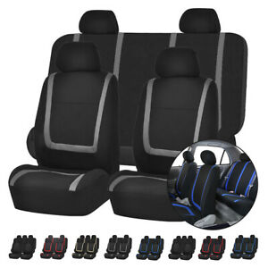 Universal Protector Car Seat Covers Front Rear Headrests For Car Truck Suv Van