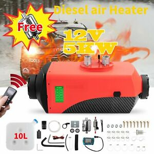 Air Diesel Parking Fuel Heater 12v 8kw Lcd Switch 10l Tank For Truck Boat Car