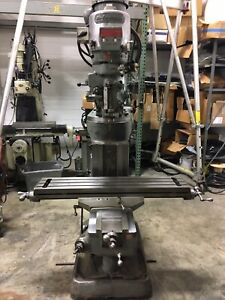 Bridgeport Milling Machine 9x42in Table Series 2 Special 2hp Head