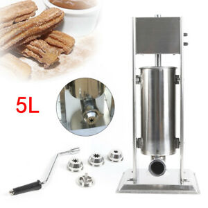 Stainless Steel Manual Vertical Spanish Donuts Churro Maker Machine W Stand 5l