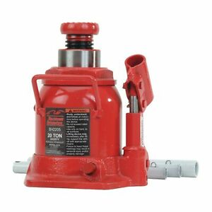 Blackhawk Automotive Heavy Duty Hydraulic Bottle Jack Short 20 Ton Cap Bh2205